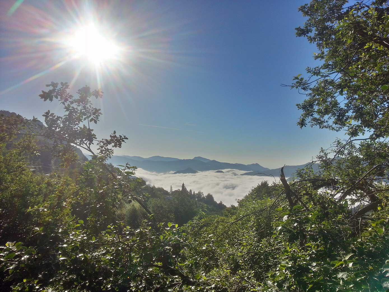 Valdinferno nebbia del mattino